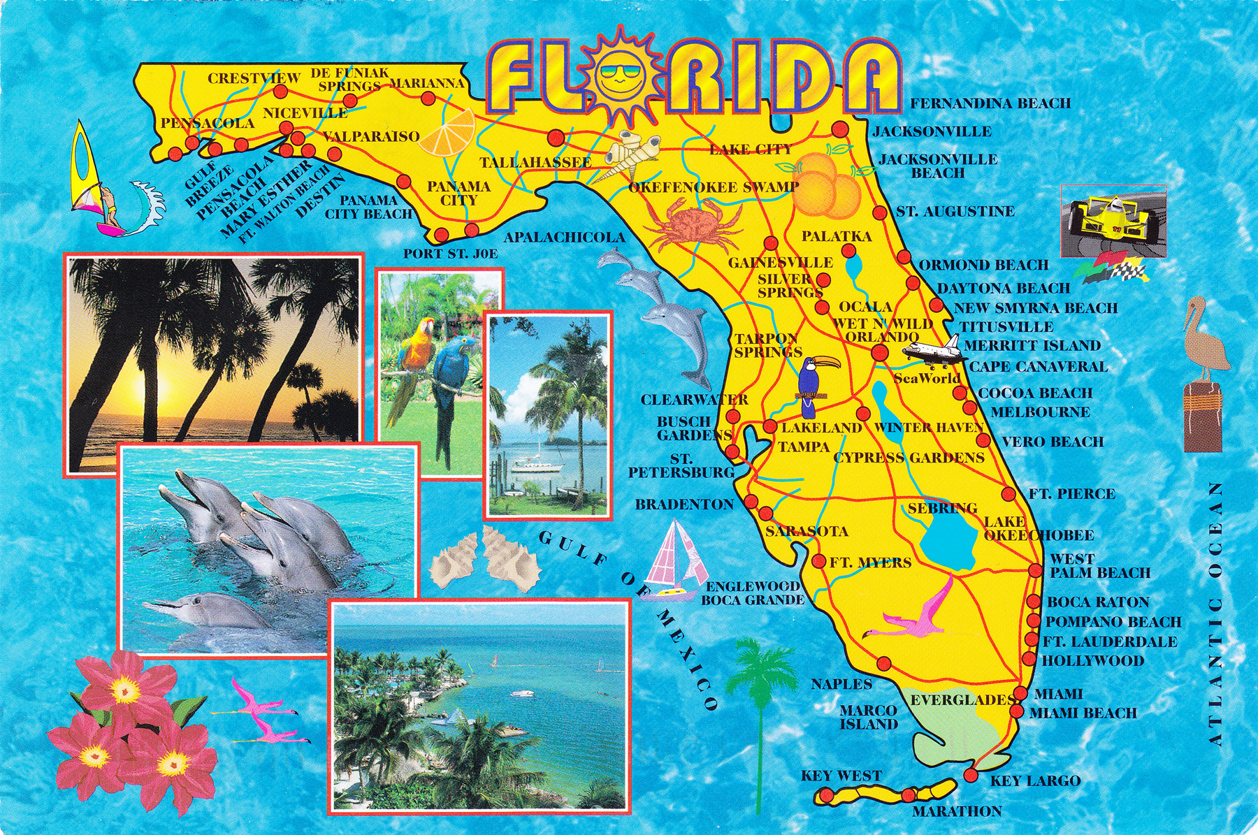 Florida beach front map